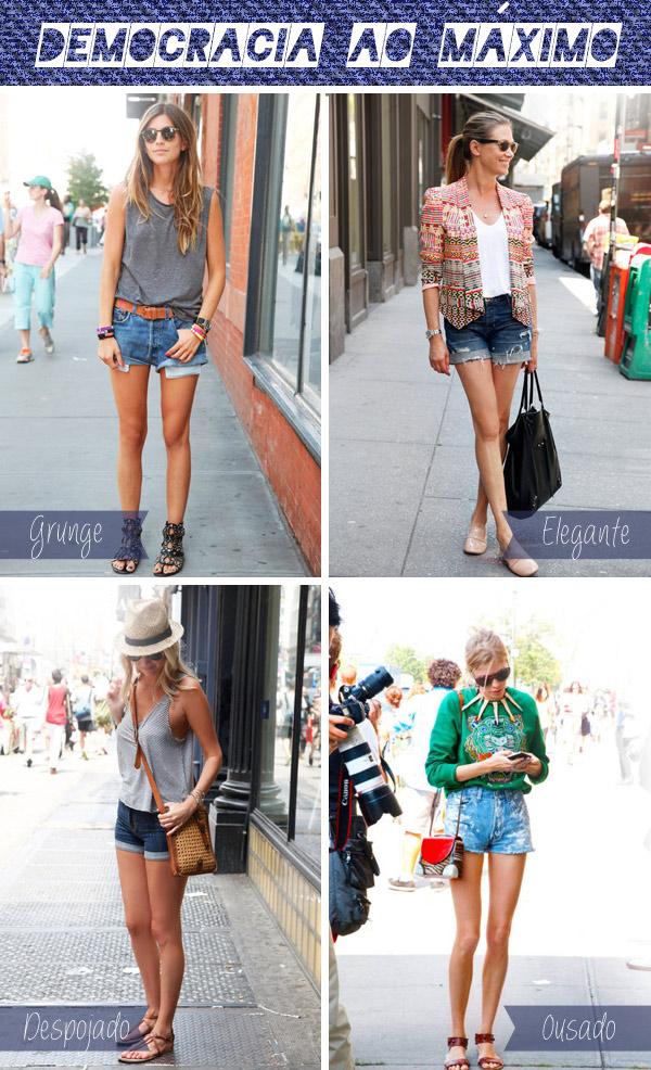 como usar short jeans